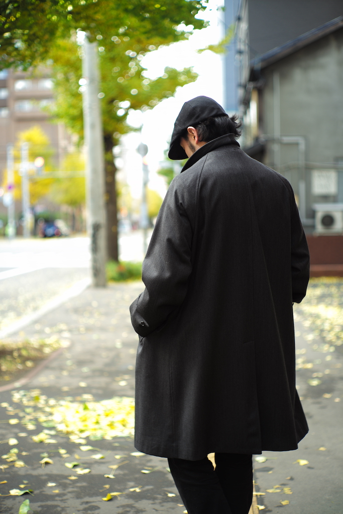 ANATOMICA / SINGLE RAGLAN COAT Ⅵ COVERT CLOTH